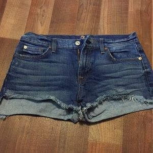 7for all mankind jean shorts size 29